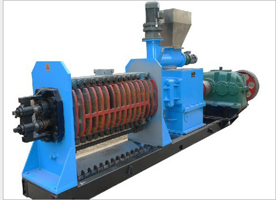 Double screw shaft palm kernel oil press machine