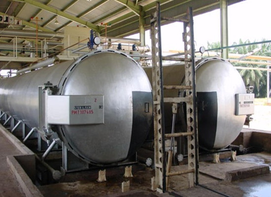 Continuous sterilizer of palm oil mill