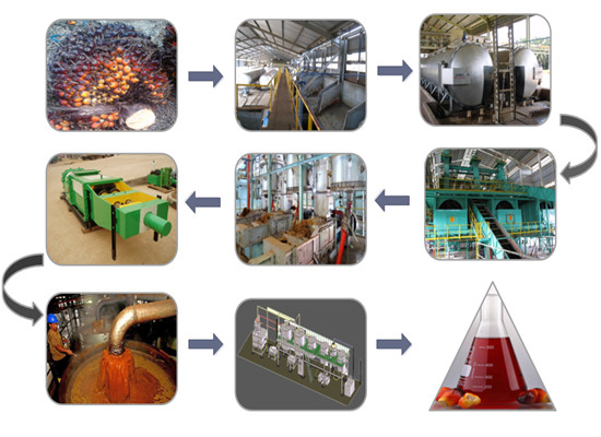 Palm oil mill from palm fruit to palm oil