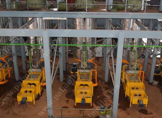 Palm oil mill procesing plant