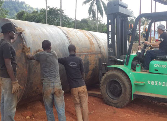 Nigeria Ondo client 60TPD palm kernel oil project start installing