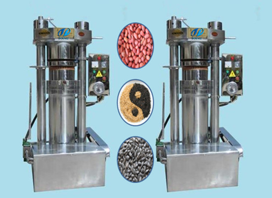 Hydraulic sesame oil pressing machine