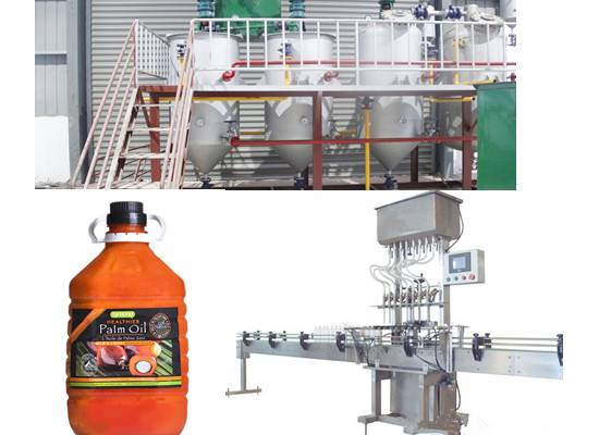 Palm kernel oil refining and filling plant