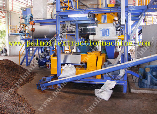Dry type palm oil mill process