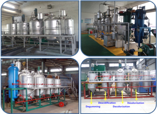 Palm kernel oil refining process/crude oil refining machine