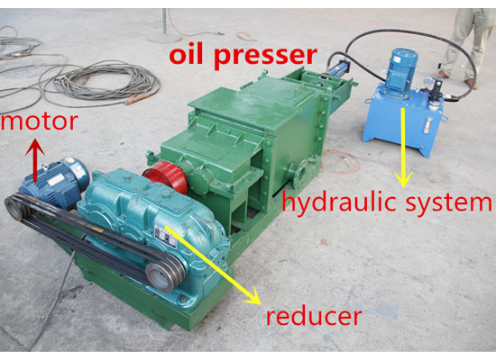 double screw press machine with hydraulic system