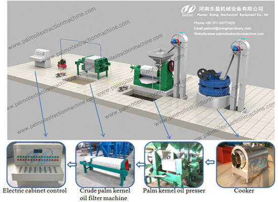 Palm kernel expeller press machine