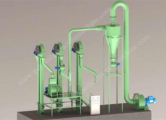 Palm kernel cracker and shell separator machine