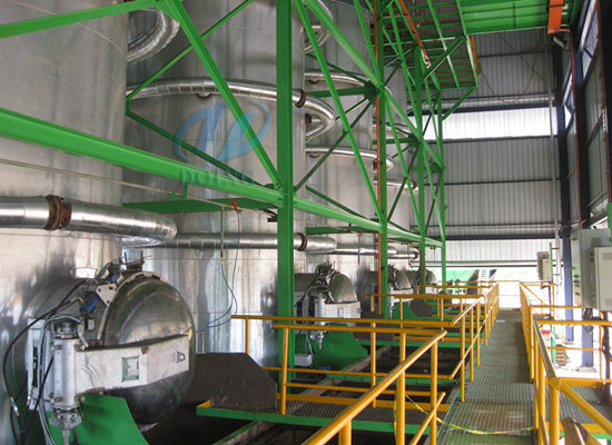 Palm oil production machine running video
