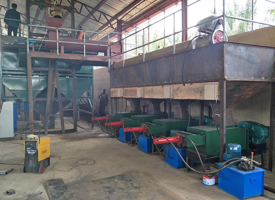 Nigeria 5tph palm oil production machine sucessfully installed