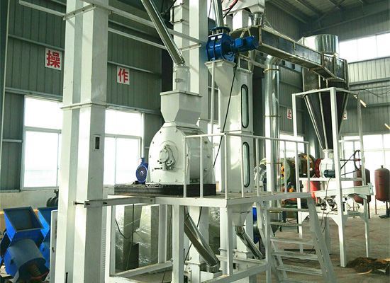 Palm kernel cracker and separator machine running v