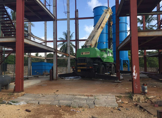 100tpd palm oil refining and fractionation machine installed in Kenay