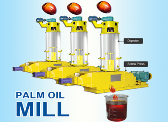 Automatic palm oil press machine