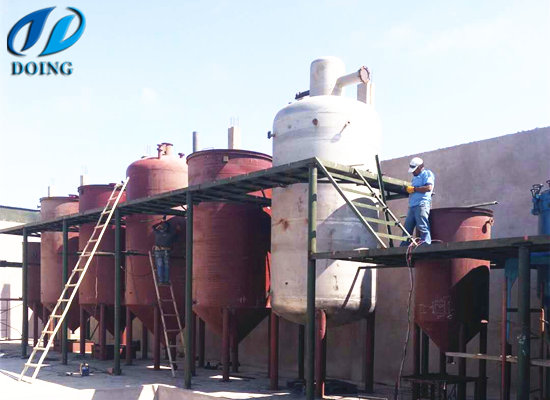20tpd olive oil refinery plant built in Peru