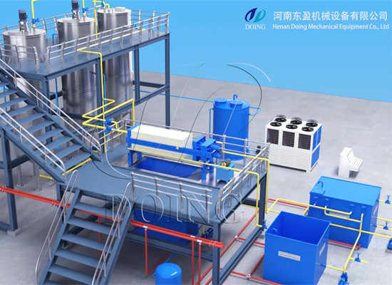 1-10tpd palm oil fractionation plant, machine to separate palm olein and palm stearin