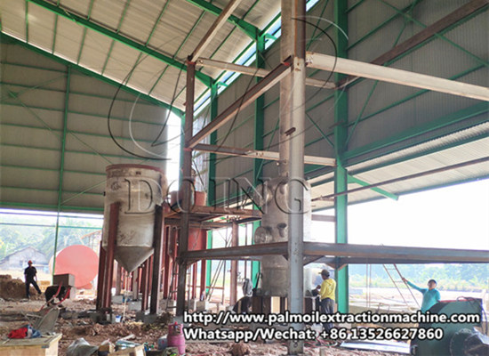 Indonesia 5tpd palm oil refinery plant is on installing
