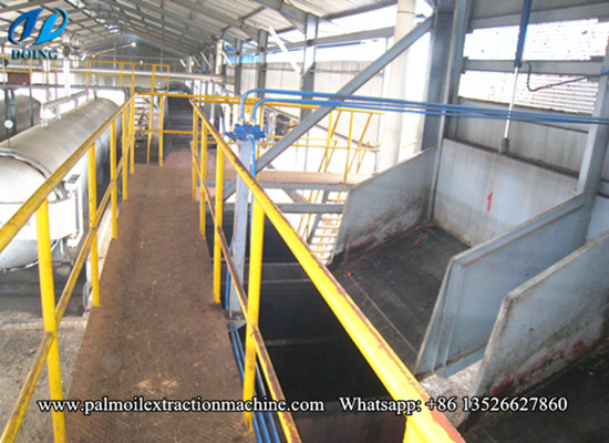 Crude palm oil production process