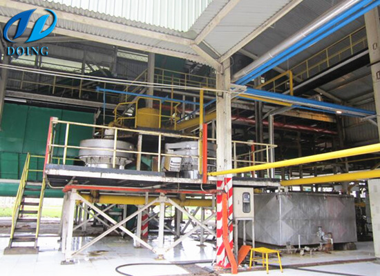 Crude palm oil processing plant