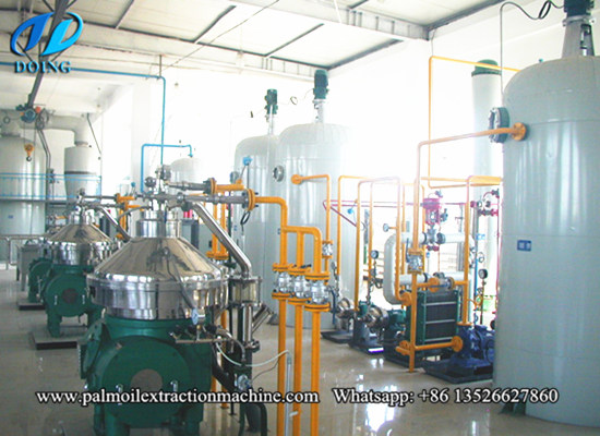 50-1000tpd continuous palm oil refining machine