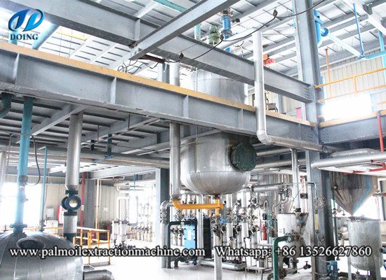 Palm oil refining deodorization section