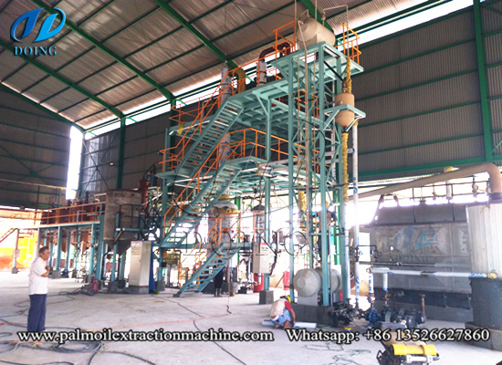 Indonesia 5tpd palm oil refinery plant running video