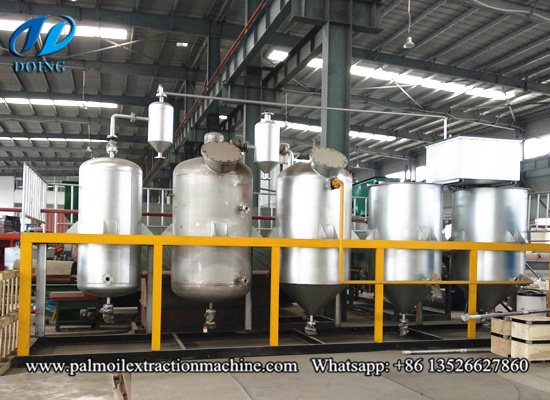 Mini palm oil refining machine, small palm oil refinery plant video