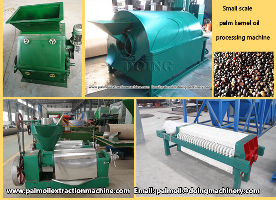 Uganda customer ordered one set small scale palm kernel oil processing machine