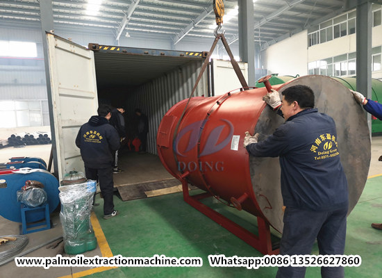 1tph palm oil extraction machine is ready to delivery to Malaysia
