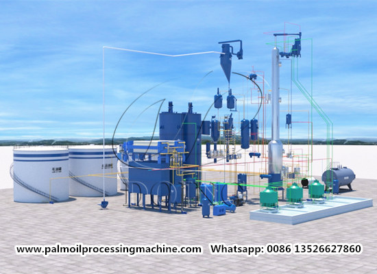 100tpd palm oil refinery and fractionation plant video (part 2)