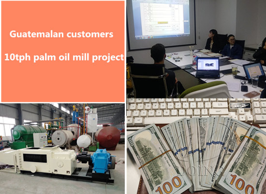 Guatemalan customers signed 10tph palm oil processing machine sale contract with Henan Doing Company