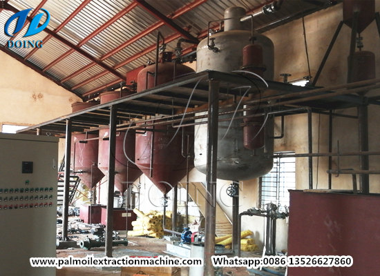 5tpd palm oil refinery and fractionation plant successfully installed in Nigeria