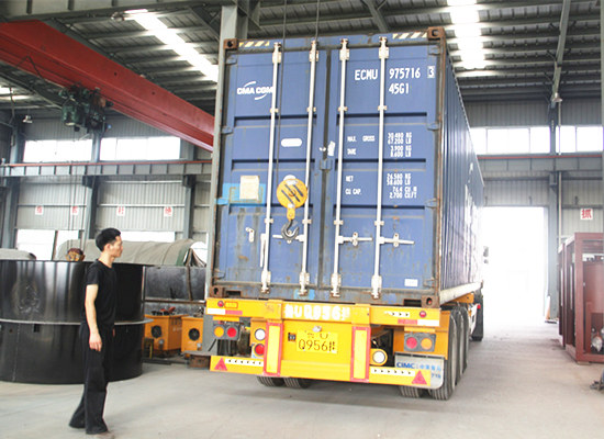 Indonesia customer ordered 1tph palm oil processing machine is being deliveried