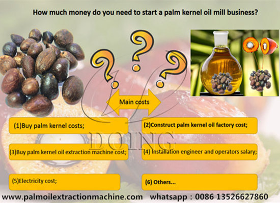 How much money do you need to start a palm kernel oil mill business?