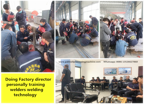 Doing Factory director personally training welders welding technology