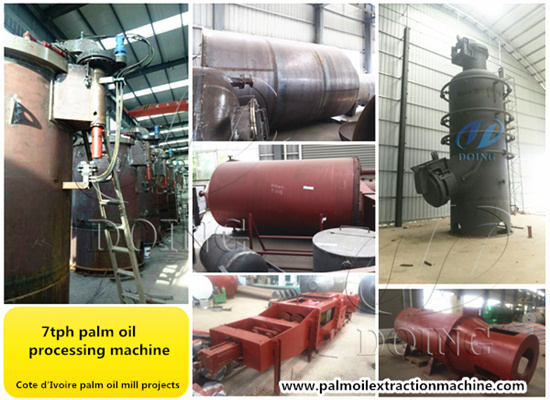 Cote d'Ivoire customer ordered 7tph palm oil processing machines are in production