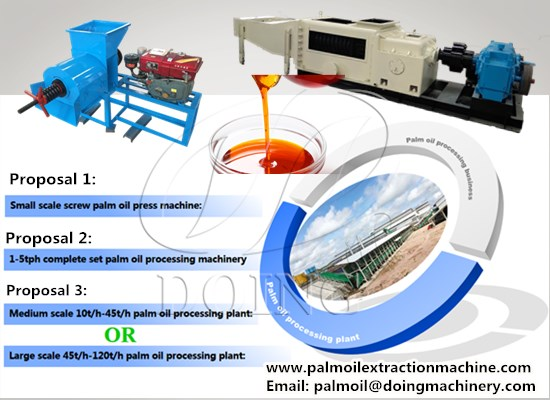 Feasibility proposal for setting up a palm oil processing plant in Nigeria
