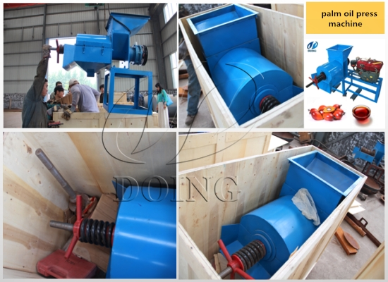 2 sets of small scale palm oil press machine will be shipped to Nigeria