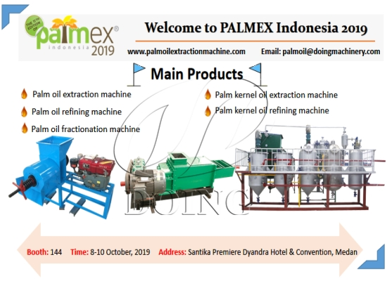 Henan Doing Company will attend the 11th PALMEX Indonesia 2019