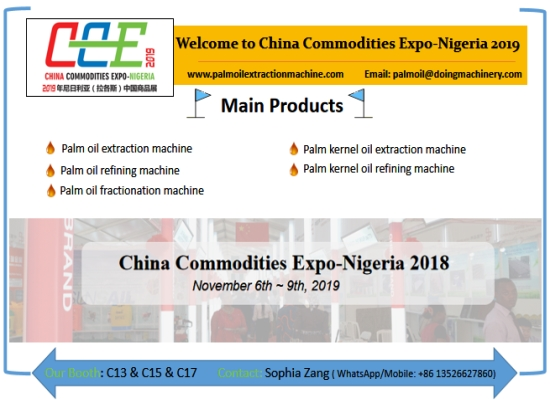 Henan Doing Machinery will attend China Commodities Expo-Nigeria 2019