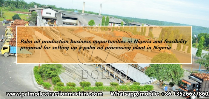Palm oil production business opportunities in Nigeria and feasibility proposal for setting up a palm oil processing plant in Nigeria