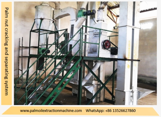 Palm nut cracking and separating system is under installation in Nigeria