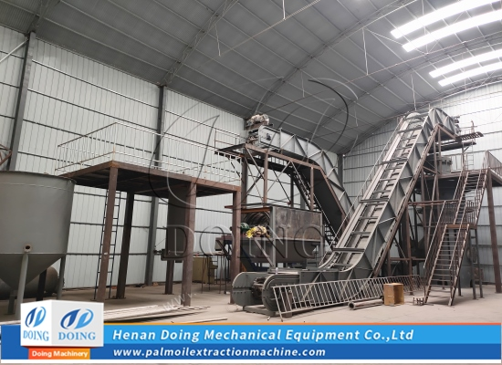 Doing Group is installing the small scale palm oil processing machine prototypes at factory