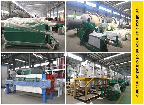 Nigeria customer ordered small scale palm kernel oil extraction machine from Henan Doing Company