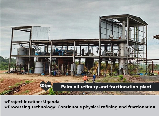 30tpd palm oil refinery and fractionation plant project successfully installed in Uganda