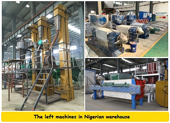 Nigerian warehouse has some palm oil machines is on sale with a quite favorable price