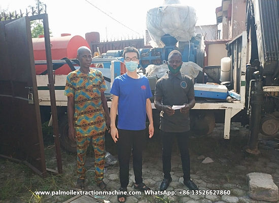 Nigerian customer directly buy small palm kernel oil extraction machine from Nigerian warehouse