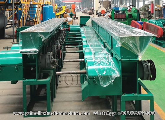 20 sets of small scale palm oil press machines were delivered to the Guinea