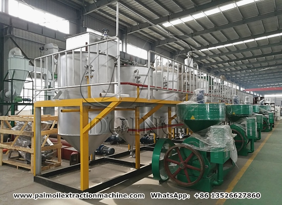 Reality video of palm oil processing machine manufacturer's production ability