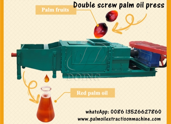 1tph, 5tph, 10tph, 15tph double screw palm oil press machine