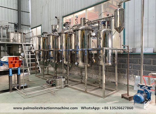 1tpd stainless steel electric heating palm oil refinery plant